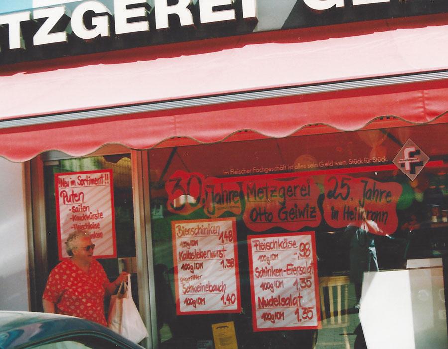 Metzgerei Geiwiz - Chronik